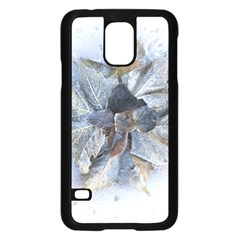 Winter Frost Ice Sheet Leaves Samsung Galaxy S5 Case (black)