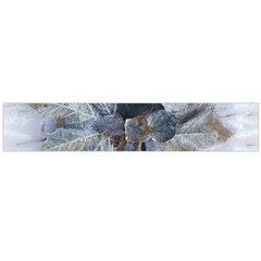 Winter Frost Ice Sheet Leaves Large Flano Scarf