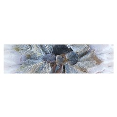 Winter Frost Ice Sheet Leaves Satin Scarf (oblong)