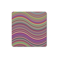Wave Abstract Happy Background Square Magnet