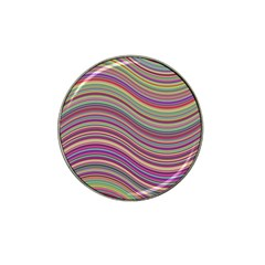 Wave Abstract Happy Background Hat Clip Ball Marker (4 Pack)