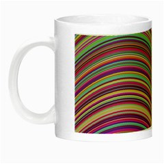 Wave Abstract Happy Background Night Luminous Mugs