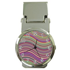 Wave Abstract Happy Background Money Clip Watches