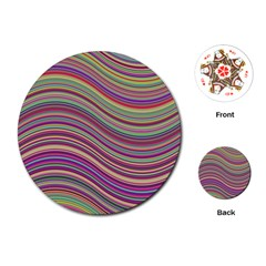 Wave Abstract Happy Background Playing Cards (round)