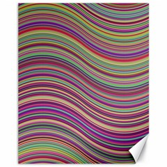 Wave Abstract Happy Background Canvas 11  X 14