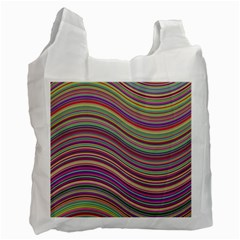 Wave Abstract Happy Background Recycle Bag (one Side)