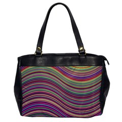Wave Abstract Happy Background Office Handbags