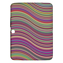 Wave Abstract Happy Background Samsung Galaxy Tab 3 (10 1 ) P5200 Hardshell Case