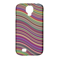 Wave Abstract Happy Background Samsung Galaxy S4 Classic Hardshell Case (pc+silicone)