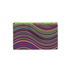 Wave Abstract Happy Background Cosmetic Bag (xs)