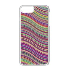 Wave Abstract Happy Background Apple Iphone 7 Plus Seamless Case (white)