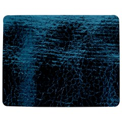 Blue Black Shiny Fabric Pattern Jigsaw Puzzle Photo Stand (rectangular)
