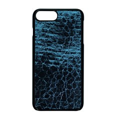 Blue Black Shiny Fabric Pattern Apple Iphone 7 Plus Seamless Case (black)
