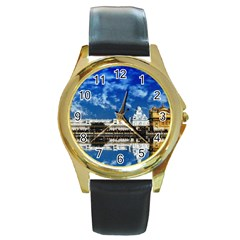 India Punjab Amritsar Sikh Round Gold Metal Watch