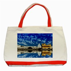 India Punjab Amritsar Sikh Classic Tote Bag (red)