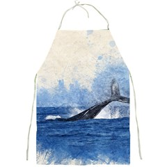 Whale Watercolor Sea Full Print Aprons