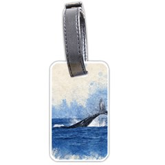 Whale Watercolor Sea Luggage Tags (one Side)