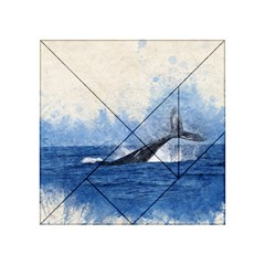 Whale Watercolor Sea Acrylic Tangram Puzzle (4  X 4 )