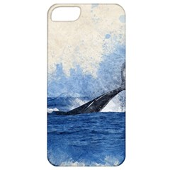 Whale Watercolor Sea Apple Iphone 5 Classic Hardshell Case