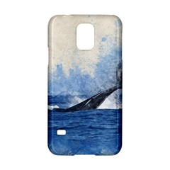 Whale Watercolor Sea Samsung Galaxy S5 Hardshell Case