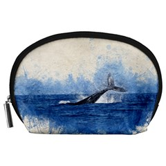 Whale Watercolor Sea Accessory Pouches (large)