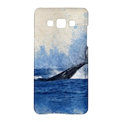 Whale Watercolor Sea Samsung Galaxy A5 Hardshell Case