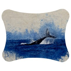 Whale Watercolor Sea Jigsaw Puzzle Photo Stand (bow)