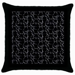 Black And White Textured Pattern Throw Pillow Case (black)