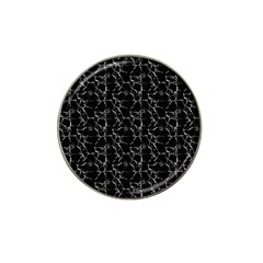 Black And White Textured Pattern Hat Clip Ball Marker