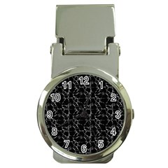 Black And White Textured Pattern Money Clip Watches