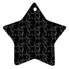 Black And White Textured Pattern Star Ornament (two Sides)