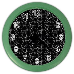 Black And White Textured Pattern Color Wall Clocks