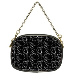 Black And White Textured Pattern Chain Purses (one Side)