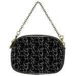 Black And White Textured Pattern Chain Purses (One Side)  Front