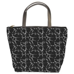Black And White Textured Pattern Bucket Bags
