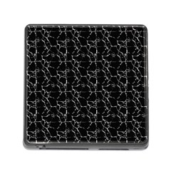 Black And White Textured Pattern Memory Card Reader (square)