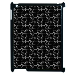 Black And White Textured Pattern Apple Ipad 2 Case (black)
