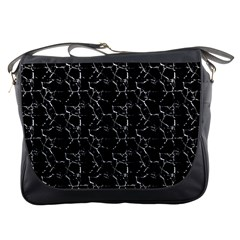 Black And White Textured Pattern Messenger Bags