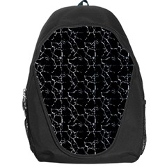 Black And White Textured Pattern Backpack Bag