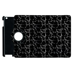 Black And White Textured Pattern Apple Ipad 2 Flip 360 Case