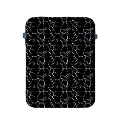 Black And White Textured Pattern Apple Ipad 2/3/4 Protective Soft Cases