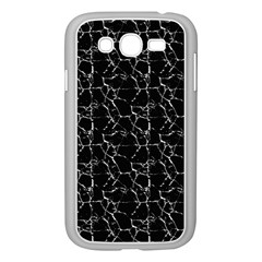 Black And White Textured Pattern Samsung Galaxy Grand Duos I9082 Case (white)