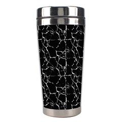 Black And White Textured Pattern Stainless Steel Travel Tumblers