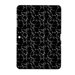 Black And White Textured Pattern Samsung Galaxy Tab 2 (10 1 ) P5100 Hardshell Case