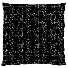 Black And White Textured Pattern Large Flano Cushion Case (two Sides)