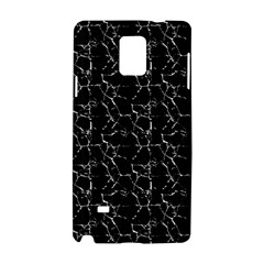 Black And White Textured Pattern Samsung Galaxy Note 4 Hardshell Case