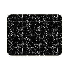 Black And White Textured Pattern Double Sided Flano Blanket (mini)