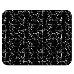 Black And White Textured Pattern Double Sided Flano Blanket (medium)