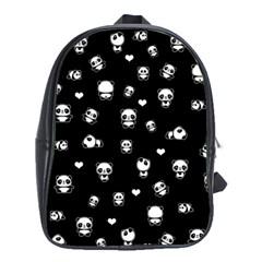 Panda Pattern School Bag (xl)