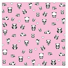 Panda Pattern Large Satin Scarf (square)